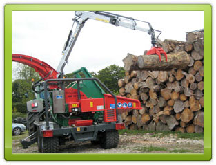 Our Heizohack 14-800 wood chipping machine